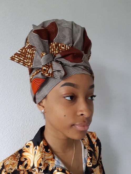 Turban femme en tissu wax