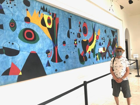 Cincinnati Art Museum- Miro painting with Jim Foster and Derrick Woodham