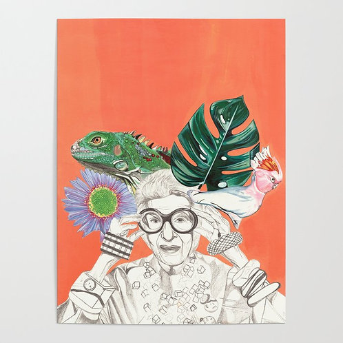 Iris Apfel Painting Poster / by CoCo Schramel