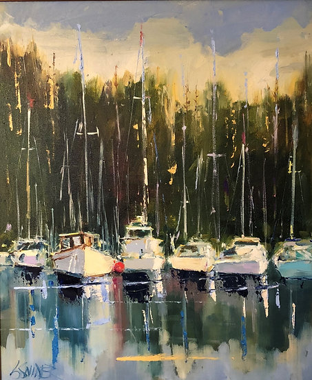 Maumelle Yacht Club | Bob Snider | Oil on Canvas