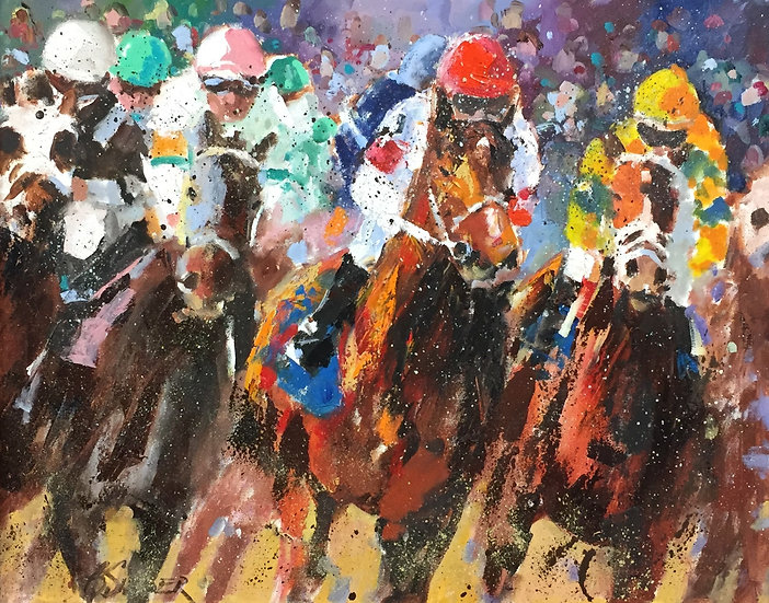 Kentucky Derby | Bob Snider | Oil on Canvas