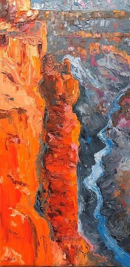 Grand Canyon Lookout | Ron Almond | Oil on Canvas