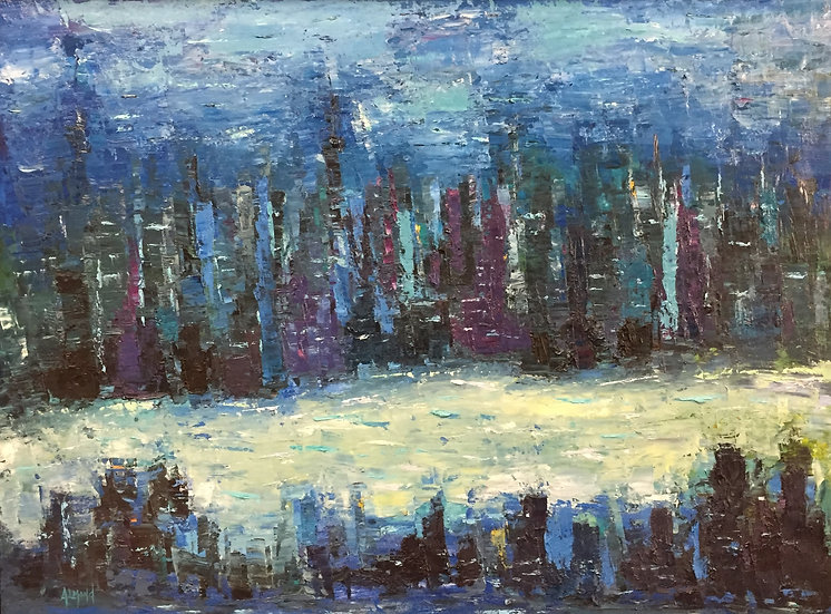 Night on the Hudson | Ron Almond | Oil on Canvas
