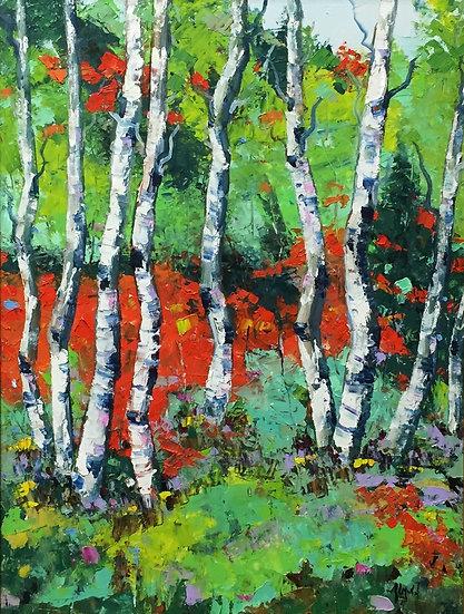 Aspen Glory | Ron Almond | Oil on Panel