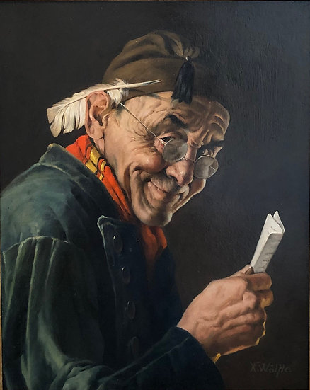 The Bookkeeper | Franz Xavier Wolfle | Oil on Panel