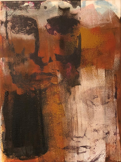Face Series | Michelle Moore | Mixed Media on Canvas