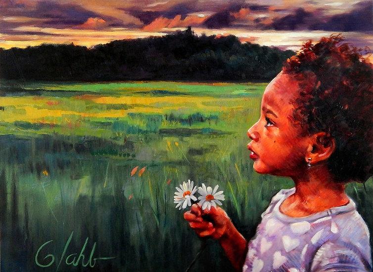 Daisies at Dusk | Greg Lahti | Oil on Canvas