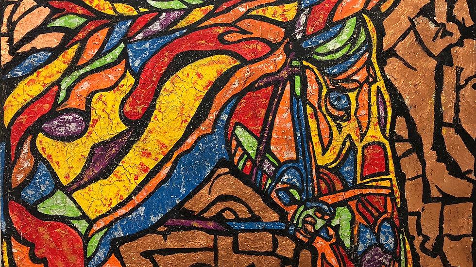 Carousel #2   Jean da Silva   Acrylic on Canvas