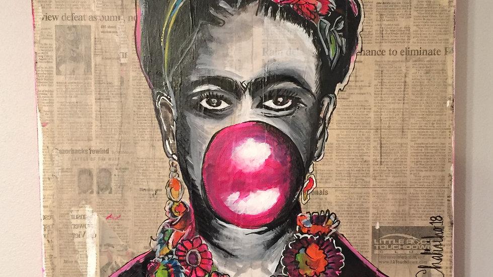 Bubble Gum Frida | Luis Atilano | Acrylic on Canvas