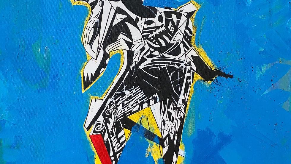 Factory Purpose | Charles Degollado | Ink, Acrylic on Canvas