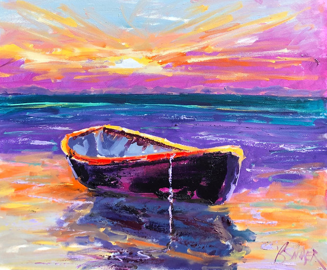 Lonesome Boat | Bob Snider | Oil on Canvas