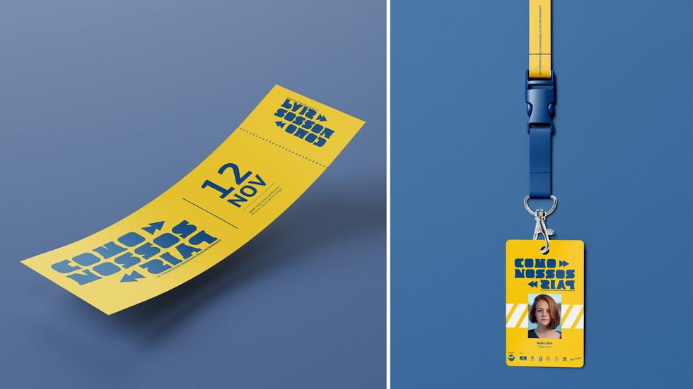 Ingresso / Crachá  | Ticket / Badge