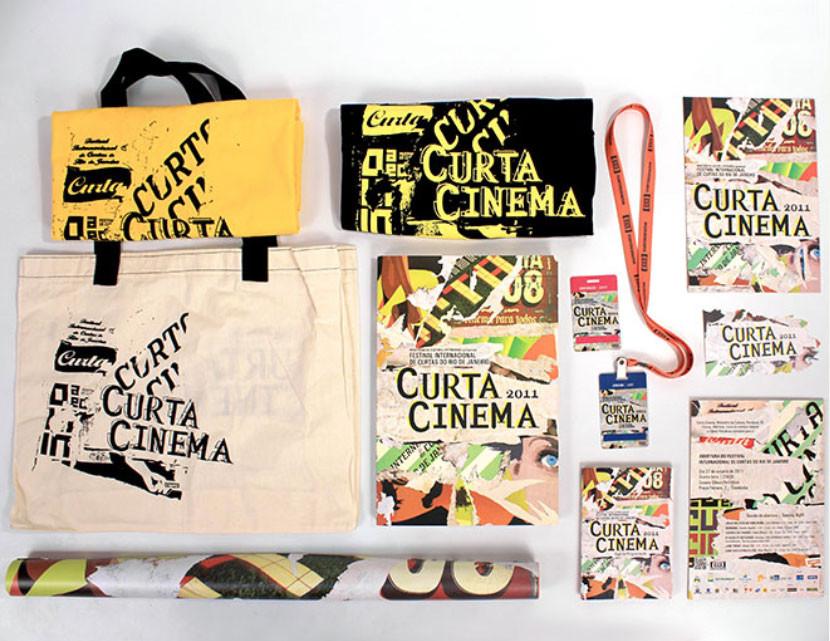 T-Shirt, ecobag, programa, credenciais, catálogo e cartaz