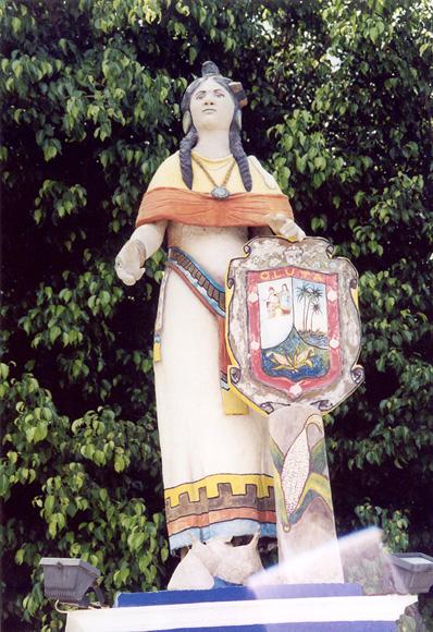 Statue of La Malinche, Oluta, Mexico