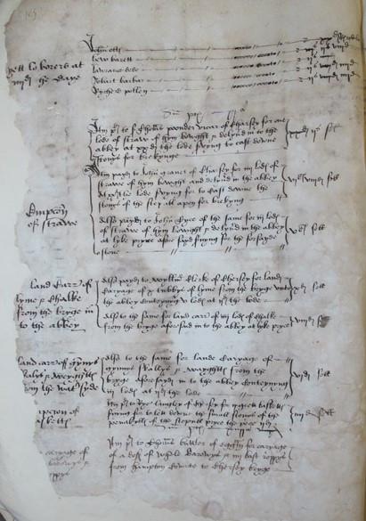 Dissolution of Chertsey Abbey (Catalogue reference: TNA, E 101/459/22, fol. 2v)