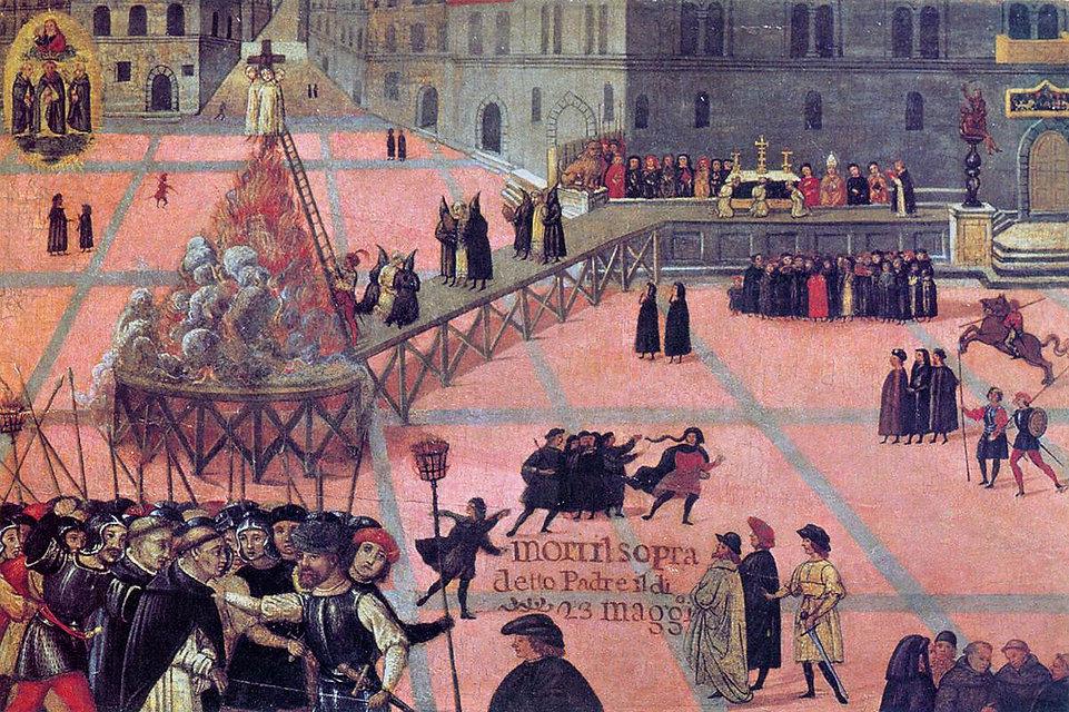 The Ordeal of Girolamo Savonarola in the Piazza Signoria, Unknown Artist