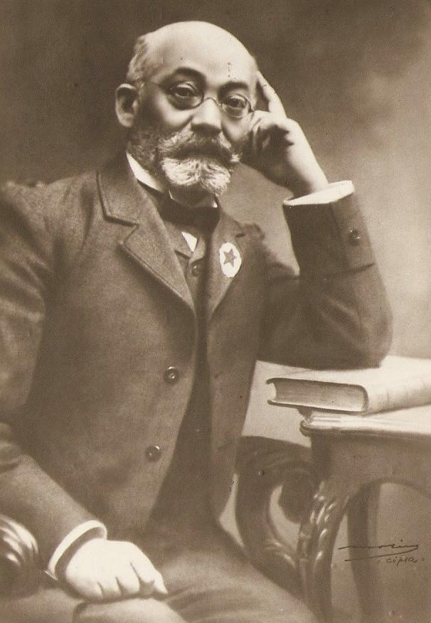 Lazar Ludwik Zamenhof, at the Barcelona 1909 Congress.