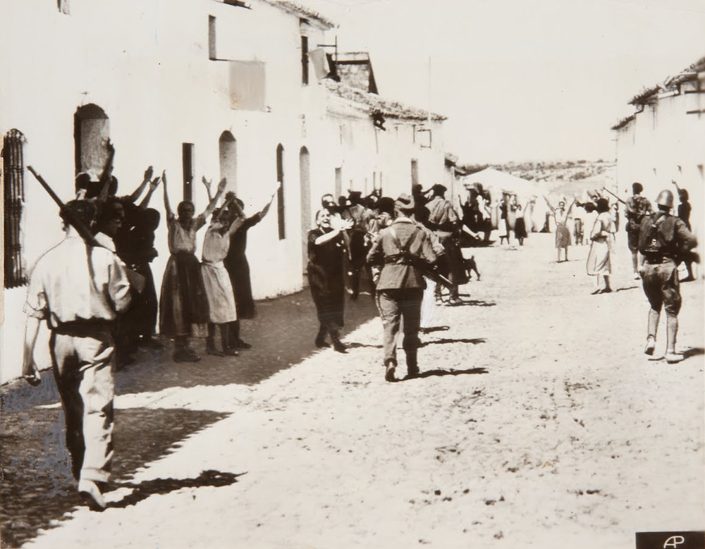Women pleading with Nationalist forces, Seville, 1936.