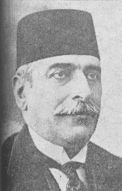 Moshaver al-Mamalek, leader of the Iranian delegation.