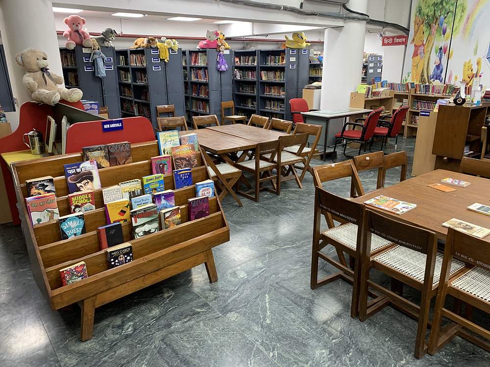 Children's Section, T.S. Central State Library, sector 17, Chandigarh. 20 March 2021. Photograph by Eashan Chaufla.