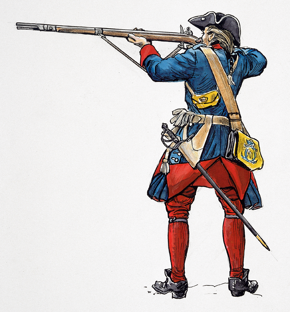 Alf Lännerbäck, Swedish infantry man of the Karolean period.