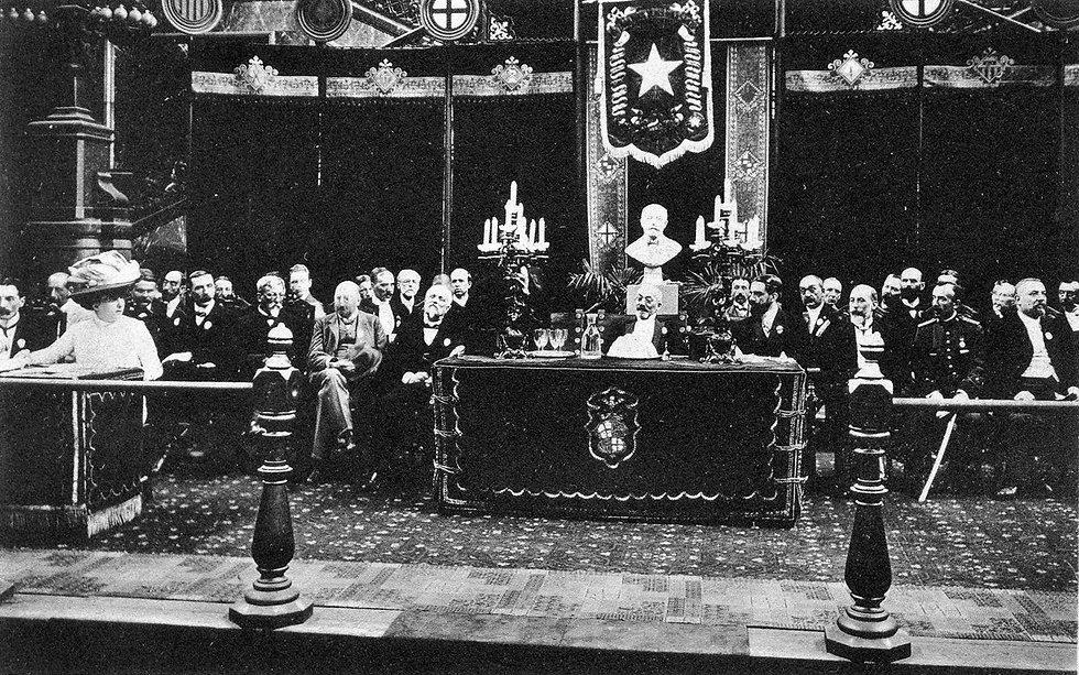 World Esperanto Congress, 1909, Barcelona.Chaired by Ludwig Zamenhof