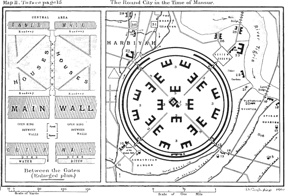 4Map of the Round City by Guy Le Strange, via Wikimedia Commons