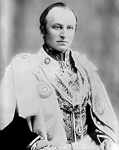 Lord Curzon in his robes as Viceroy of India.