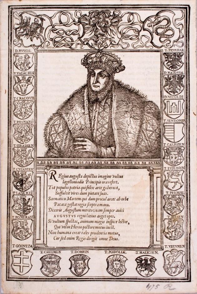 Figure 8: Portrait of Sigismund Augustus, Stanislaus Hosius, 'Confessio catholicae fidei christiana', Vienna, 1560. National Museum, Cracow.