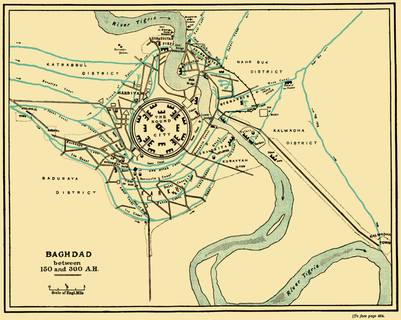 3Map of Baghdad by Guy Le Strange, via Wikimedia Commons
