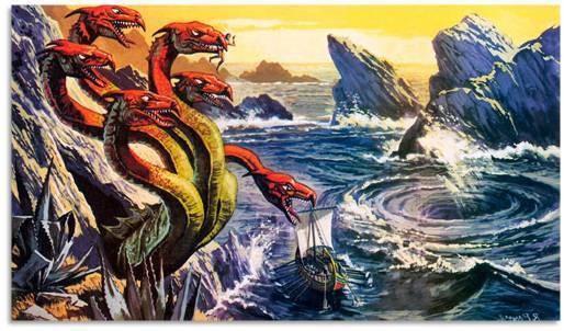 "Fig.1. ""Choosing between Scylla and Charybdis."" Tecnologia Mediay Nerdos, 8 Jan. 2020, www.tecnologiamediaynerdos.com. In Greek mythology, Charybdis is a sea monster in Greek mythology was based on a whirlpool in the strait of Messina."