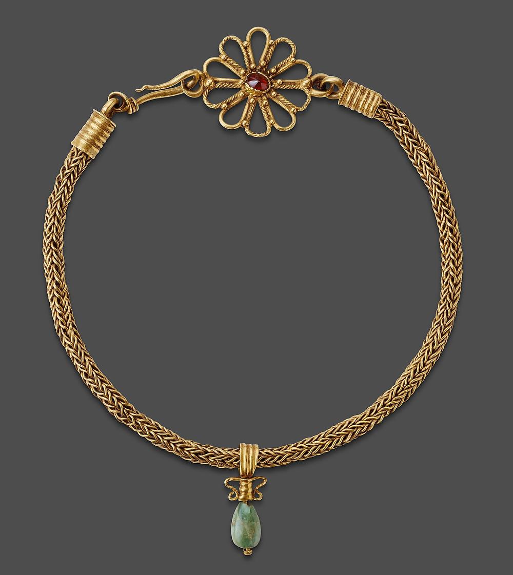 Necklace with Pendant; Roman Empire, 101-300 CE.