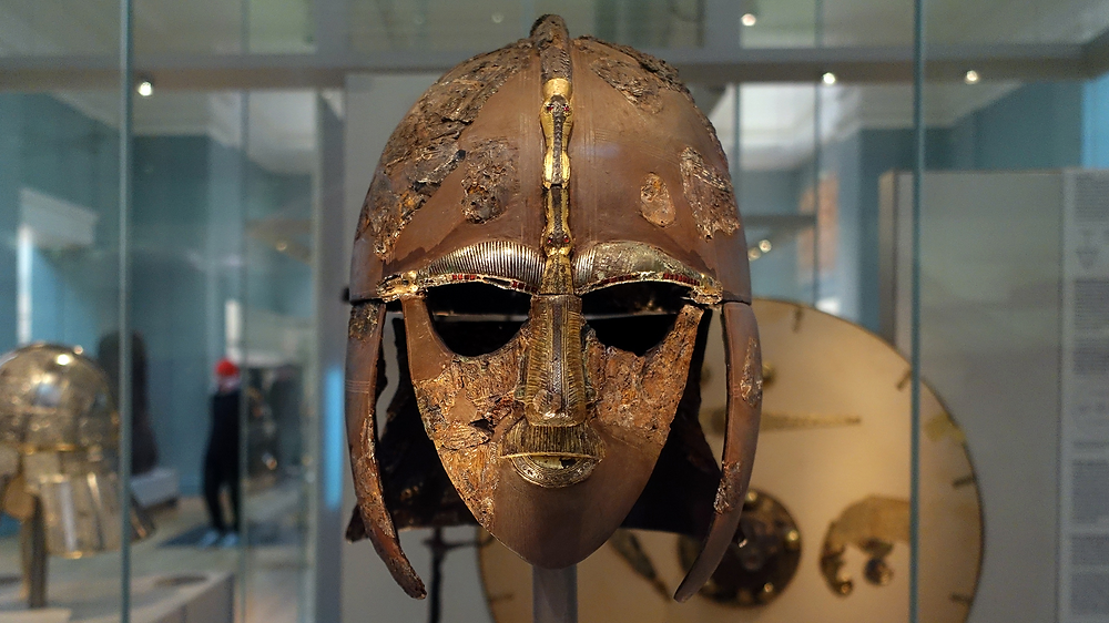 Reconstructed Helmet found at Sutton Hoo