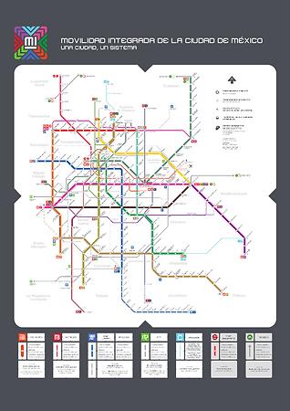 CDMX Metro, 'Mapa de Movilidad Integrada de la Ciudad de México', Gobierno de la Ciudad de México