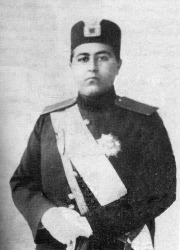 A young Ahmad Shah