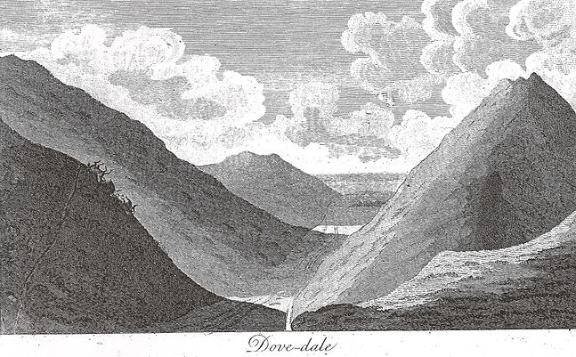Image of Dovedale, Gentleman's Magazine, vol. 64, pt 2 (1794), p.1074.