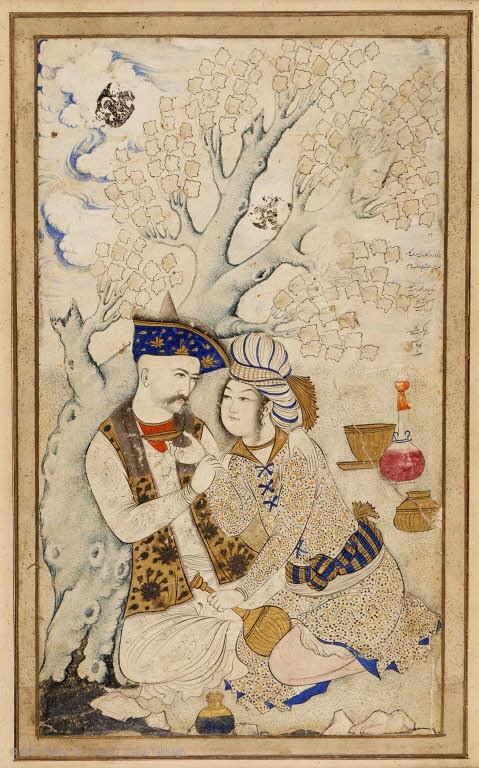 Shah Abbas and his Cupbearer,  2007 Musée du Louvre / Claire Tabbagh