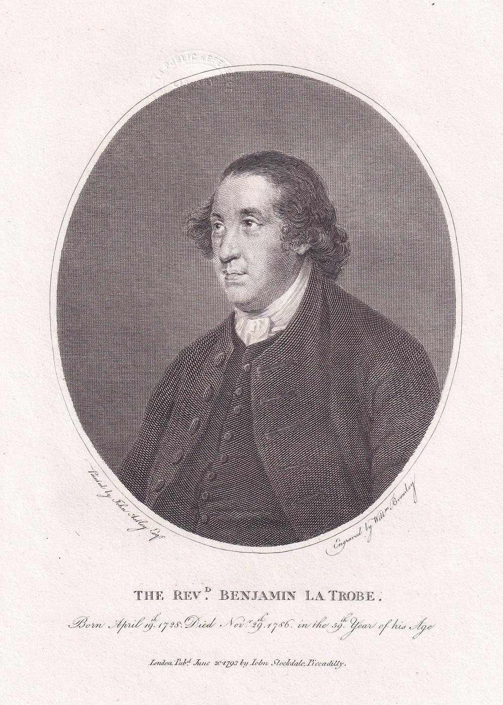 Figure 1: Benjamin LaTrobe (1728-1786), head of the Moravians in Great Britain since 1768.