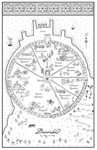 14Map of Daevabad by Virginia Norey