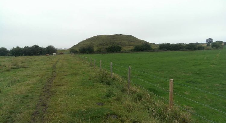 'Skipsea Castle, Skipsea Brough, East Yorkshire. The motte of the early Norman castle is thought to stand on top of an Iron Age burial mound'