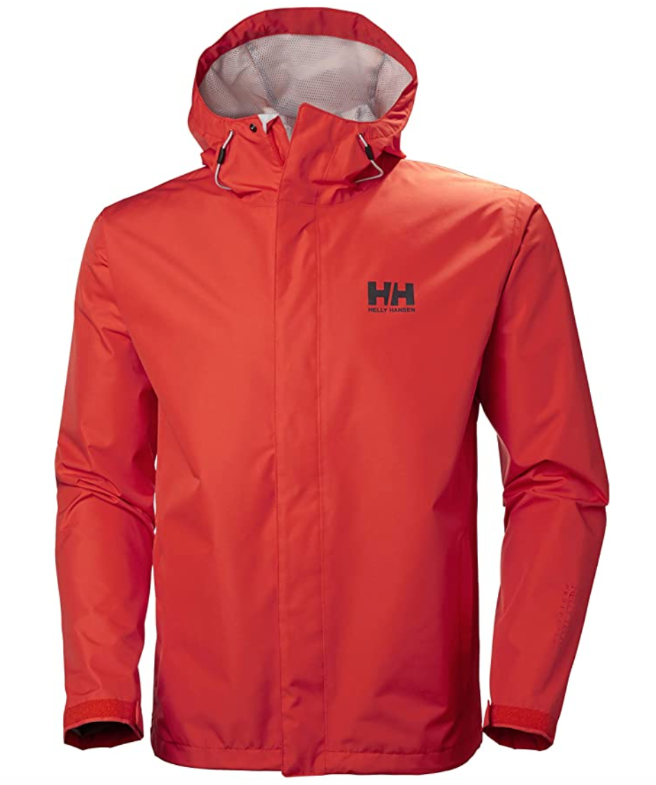 Waterproof, windproof, rain jacket with hood