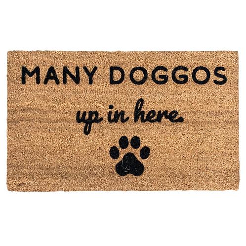 Many Doggos Up In Here Doormat - Cincinnati's Dognatti for SHOPDOGSOF