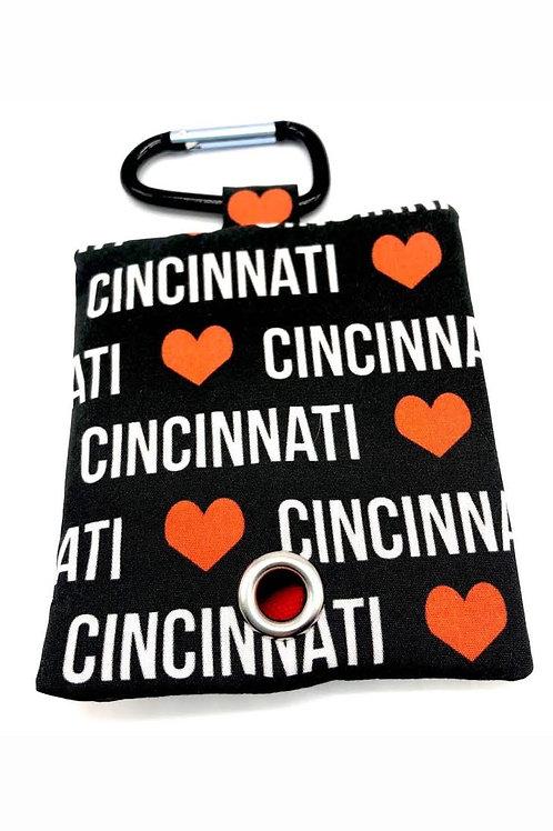 I LOVE Cincinnati Poo Bag