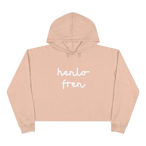 """""""Henlo fren"""" Crop Hoodie by SHOPDOGSOF Cincy"""