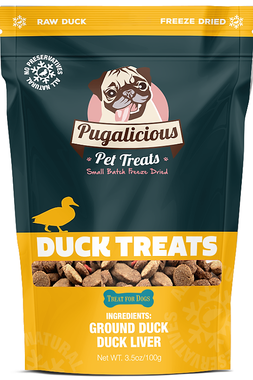 Pugalicious Duck Treats - Made in West Chester, Ohio!
