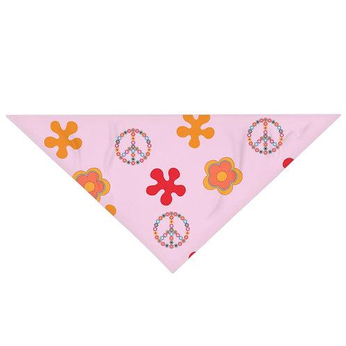 Peace & Love Pink Bandana