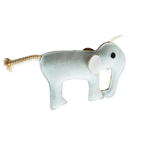 Eco-Friendly Elephant Natural Leather Dog Chew Toy -by SHOPDOGSOF Cincy