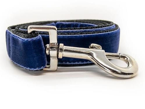 Royal Blue Velvet Leash