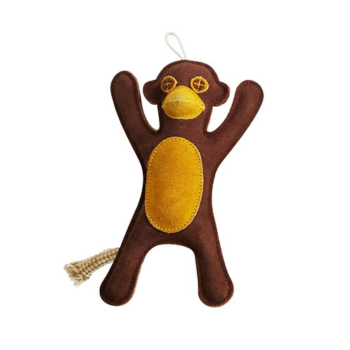 Eco-Friendly Monkey Natural Leather Dog Chew - by SHOPDOGSOF Cincy