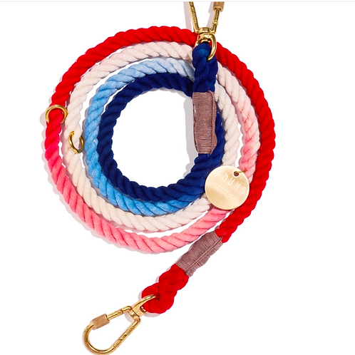 Red, White &Blue Ombre Leash